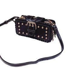 BangGood - Eachine1 Women Retro PU Leather Bag Rivet Rectangular Purse Wallet Case Zipper Phone Bag - AdoreWe.com