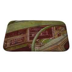 Gear New Vintage Old Postcard with Driver's Cockpit of a Vintage Classic Car Bath Mat/Rug Size: