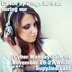 CS40s by iFrogz - Zagg is giving away an IPad every hour on Black Friday