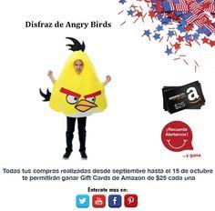 Un bonito disfraz de los tan mencionados Angry Bird, no te quedes sin tu disfraz.   http://amzn.com/B0056B8550