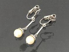 Vintage AVON Jewelry Faux Pearl Clip on by wandajewelry2013