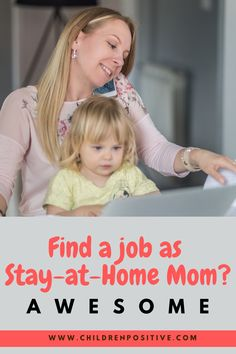 Staying home with your kids and working at the same time is potentially getting the best of both worlds. You can always be there for your children and you can build up a decent career. Here are some awesome tips! Stay At Home Mom, Work From Home Moms, Happy Children, Happy Mom, Find A Job, Parenting Advice, Personal Development, Activities For Kids, Blogging