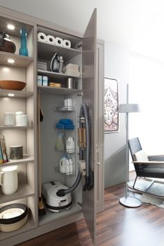 organized inside of a cleaning closet love ikea i need something like this cleaning. Black Bedroom Furniture Sets. Home Design Ideas