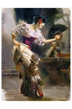 "Pino's ""The Dancer"" Limited Edition Giclee on Stretched Canvas"