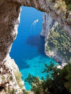 The Blue Grotto, Capri, Italy.