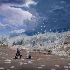 Découvrez les impressionnantes peintures de Joel Rea un jeune artiste australien ! Cet artiste peint de façon hyper réaliste, par les détails très poussés, en utilisant une palette de couleur ayant une dominante de bleue qui symbolise le rêve, le calme...