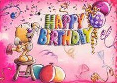 Happy Birthday Kids, Happy Birthday Greeting Card, Birthday Cards, Everything Pink, Doodle Art, Note Cards, Embellishments, Little Girls, Birthdays