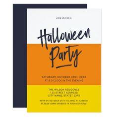 Color Block Candy Corn Halloween Party Invitation - invitations custom unique diy personalize occasions