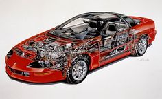 """1993 Chevrolet Camaro Z28  With rack-and-pinion steering, a new 275-hp 5.7-liter V-8 wearing the LT1 name, and an available six-speed manual transmission, the fourth-generation Camaro Z28 was a startling performer. """"(A)ny 3452-pound car that clears the quarter-mile in 14.0 seconds at 100 mph and circles the skidpad at 0.92 g is a tremendous performer,"""" wrote C/D's Patrick Bedard in a comparison test that the new Z28 won"""