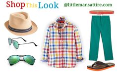 The weather is almost ready to change. It is time to prepare for the warm weather events that come with the sun. Weddings, Barbecues, or the beach are all waiting for your little man. And he will be prepared in his Lacoste Cotton Pants in teal green which gives this outfit its foundation.