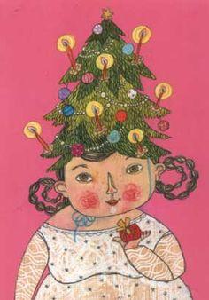 Lichtjesboom. Een postkaart van Selda Soganci