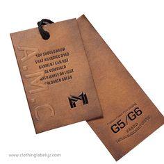 custom clothing hang tags