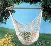 DIY hammock macrame chair  ...Hmmmm, why not do this and then weave with various yarns, fabric strips, scraps of ribbon, etc., etc