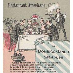 Restaurant Americano  #1898 #BuenosAires #argentina #vintage #DiseñoWeb #css #html #ads #publicidades