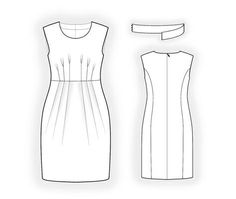 PDF Dress Sewing Pattern Women Clothes Personalized by TipTopFit.This lady can provide you with a pattern, instructions and 3D model with your own specific measurements!!!