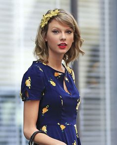 22 of Taylor Swift's Best Curly, Straight + Short Hairstyles via Brit + Co