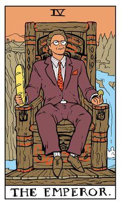 The Emperor Twin Peaks tarot card by Benjamin Mackey