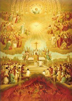 Angels & Dragons XIV: Mont Saint Michel - ATX Catholic Catholic Prayers, Catholic Art, Catholic Saints, Religious Art, Roman Catholic, Jesus Christ Images, All Souls Day, Religious Pictures, Catholic Religion