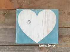 Cottage Chic decor, heart sign, Nursery decor, Distressed wood sign, Modern nursery decor, Modern wood wall art, Heart wood sign