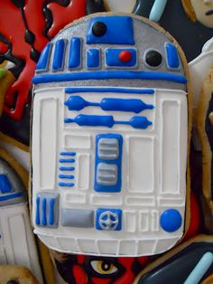 Oh Sugar Events ohsugareventplann - Star Wars Cookie - Ideas of Star Wars Cookie - Star Wars Cookies .Oh Sugar Events ohsugareventplann Star Wars Cookies, Star Wars Cake, Star Wars Gifts, Star Wars Party, Iced Cookies, Cute Cookies, Cupcake Cookies, Sugar Cookies, Cookie Frosting
