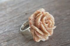 Bermuda Pink Sand Jewelry  Pink Sand Rose Statement Ring on Etsy Made In Bermuda by La Garza Bermuda