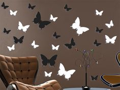 Butterfly Wall Decor Stickers  Perfect for Teen stocking Stuffers - Gossip girl Inspired Pack contains 36 stickers
