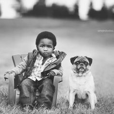 Every boy who has a dog should also have a mother, so the dog can be fed regularly.