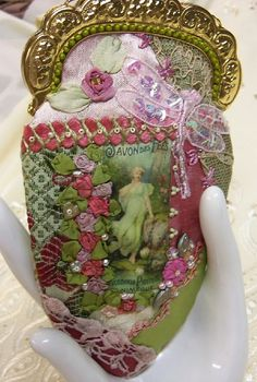 I ❤ crazy quilting, beading & ribbon embroidery . . . Acessory Pouch ~By Pat Winter, Gatherings