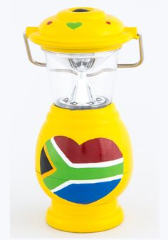 Hand painted proudly South African lantern - 0652