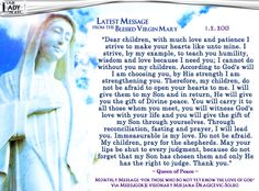 Medjugorje Message From The Blessed Virgin Mary 1.2.2013 | Our Lady Prays