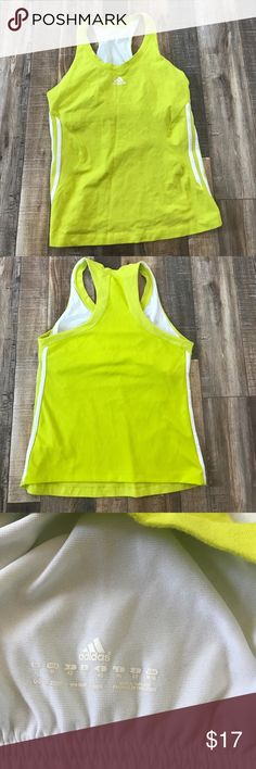 Adidas Racerback tank (size M) Adidas Racerback Tank with a built in bra. Perfect for working out or lounging around the house . Only been  worn one time. Size M  cotton & spandex adidas Tops Tank Tops