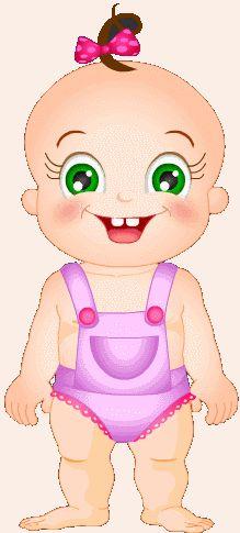 Малышка-мультяшка - гиф анимашки