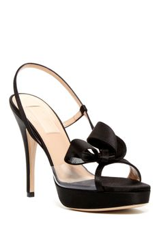 Valentino Satin Couture Bow Slingback Sandal--would go perfectly with the black and white bow back dress!