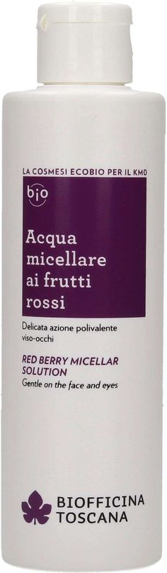 Acqua micellare bio ai frutti rossi di Biofficina Toscana