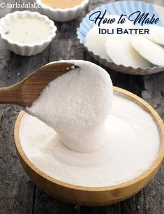 how to make idli batter recipe Idli Batter Recipes, Dosa Batter Recipe, Bhatura Recipe, Idli Recipe, Indian Snacks, Indian Food Recipes, Snack Recipes, Cooking Recipes, Cooking Tips