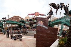 An amazing blend of artistry from free running, parkour, martial arts, and gymnastics. Photo: Garth Milan