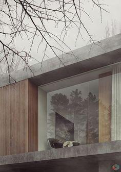 Modern Houses — Fog House on Behance