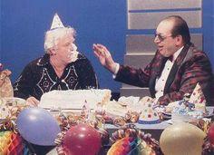 Bobby Heenan and Gorilla Monsoon. WWF Prime Time Wrestling.