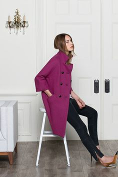 Gusset Coat - Rose | Emerson Fry
