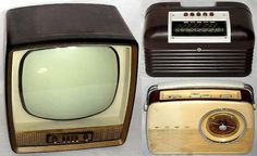Two Radios and a Television by Bush (British Electronics). Includes the DAC10 Bakelite cased Radio manufactured between 1950 and 1957 and the TR82D Radio c.1963.