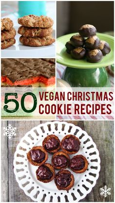 Find all of your favorites in this colleciton of 50 vegan Christmas cookie recipes. Lots of recipes for vegan cookies, candies, no-bakes, and bars. Vegan Treats, Vegan Foods, Vegan Desserts, Vegan Recipes, Holiday Baking, Christmas Baking, Merry Christmas, Vegan Christmas Cookies, Cookies Vegan