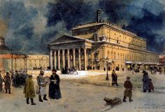 Alexandr Benois - The Bolshoi Theater in St. Petersburg in 1885   Bolshoi Theater. Story without intermission. 2013 Dom Naschokina Art Gallery