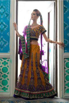 Exclusive Designer Net - Brocade Fabric Lehnga Choli Duppatta 8550