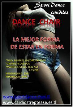 Quieres aprende a bailar de verdad en una silla...?   No es unicamente agarrar la silla y moverte... descubre un mundo de posibilidades de movimiento sensual y acrobacia...DANCE CHAIR...  www.sportdance.mex.tl o www.cardiostreptease.es.tl