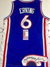 d1f718a54 Julius Erving Hand Signed Philadelphia 76ers Jersey NBA Hall Of Fame JSA  Cert