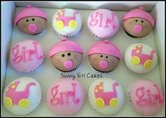 Baby shower for a baby girl by Sunny Girl Cakes, via Flickr
