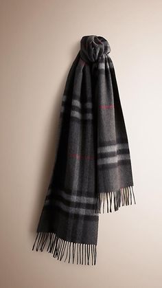 Burberry Classic Cashmere Scarf (Monogrammed)
