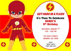 Flash Birthday Invitation Invite By CraftyCue