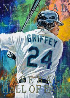 Ken Griffey Jr NBHOF fine art print