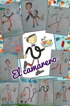 Dibujos de las letras por los alumnos de Ana Moniño.